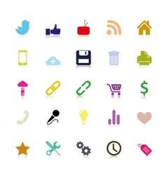 Colored social icons vector