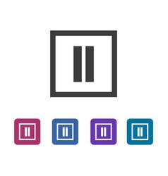 Common pause icon vector