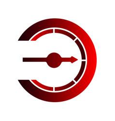 compass logo combination navigation symbol vector image