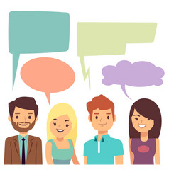 Conversation concept with people and blank vector