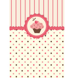 Cute background with cupcake vector