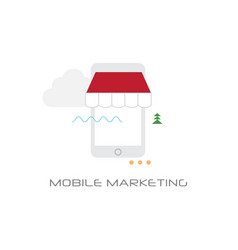 digital mobile marketing concept line style vector image