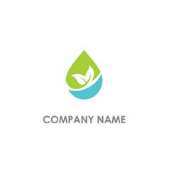 Droplet bio eco nature logo vector
