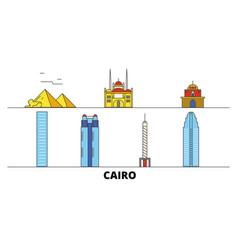 Egypt cairo flat landmarks vector