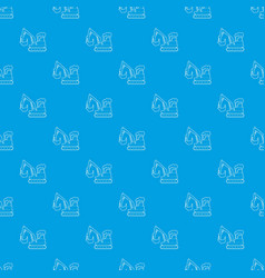 excavator pattern seamless blue vector image