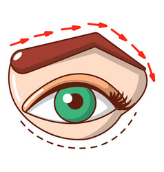 Eyelid elevation icon cartoon style vector
