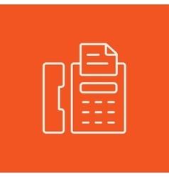 Fax machine line icon vector image
