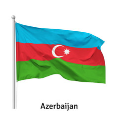 Flag republic azerbaijan vector