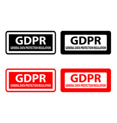 Gdpr - rubber stamp vector