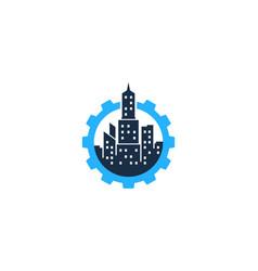 gear town logo icon design vector image
