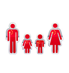 glossy metal badge icon in man woman and vector image