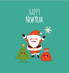 Happy NewYear card Santaclaus vector