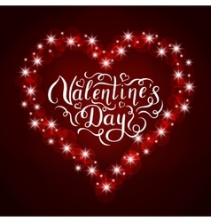 Happy Valentines Day handwritten lettering vector image