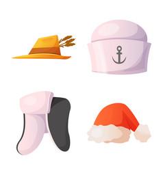 headgear and cap logo vector image