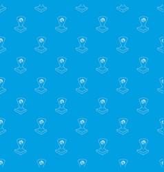 holograma pattern seamless blue vector image