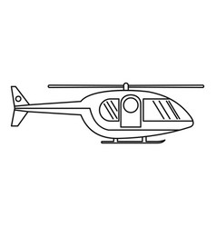 Hospital helicopter icon outline style vector