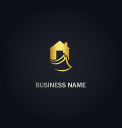 house buy realty logo vector image