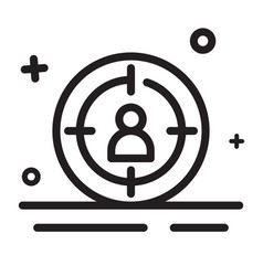 icon target target market target audience icon vector image