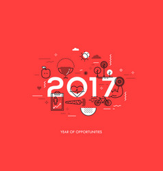 Infographic concept 2017 year opportunities vector