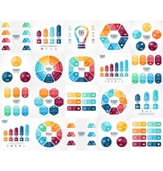 Infographics set Templates for cycle vector