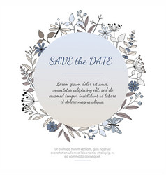 invitation or greeting card vector image