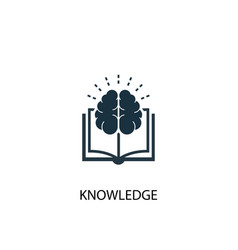 Knowledge icon simple element vector
