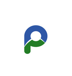 letter p logo icon vector image
