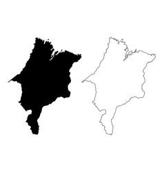 maranhao map vector image