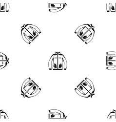 men winter jacket pattern seamless black vector image vector image