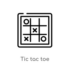 Outline tic tac toe icon isolated black simple vector