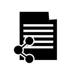 Paper document and connectivity icon vector