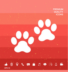 Paws symbol icon vector