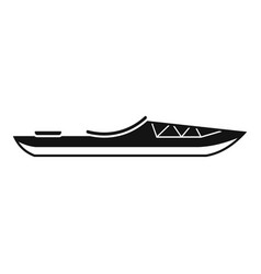 Rafting boat icon simple style vector