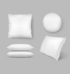 realistic comfortable pillows 3d comfort vector image