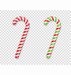 red and green candy canes vector image