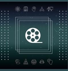 Reel film symbol icon vector