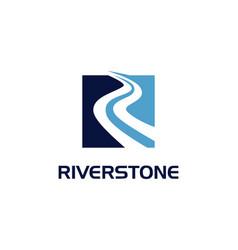 Riverstone blue flat logo sign symbol icon vector