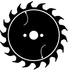 saw blade in black as icon vector image