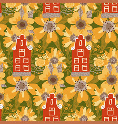 seamless pattern with netherlands traditional vector image