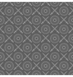 seamless viking pattern 04 vector image