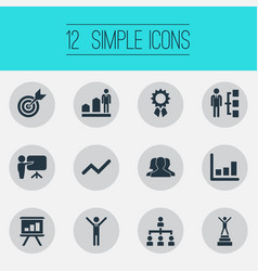 Set of simple winner icons vector