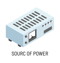 source power accumulator isolated electric vector image