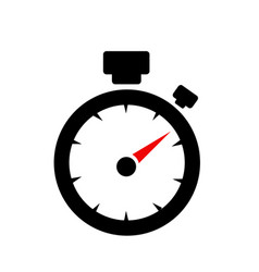 Speedometer abstract symbol of speed vector