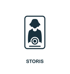 Storis icon simple element from social media vector