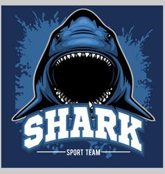 Strong shark sports mascot vector