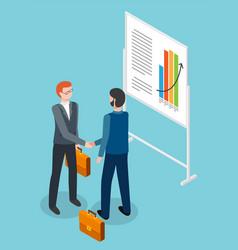 successful businessmen handshaking after vector image