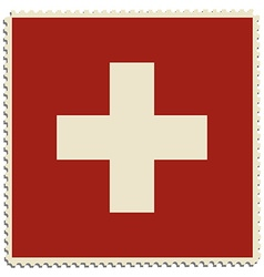 Switzerland flag post vector image
