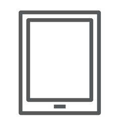 tablet line icon electronic and computer vector image