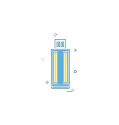 usb device icon design vector image