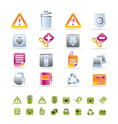 web site and computer icons vector image
